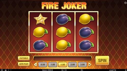 Capture d'écran machine à sous Fire Joker