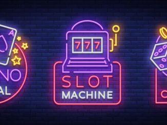 Des signes de casinon en néon
