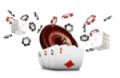 Jeux de casino avec des jetons qui volent