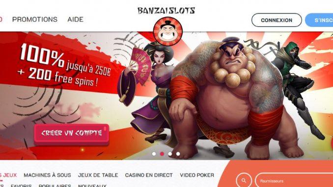 Banzai slots lobby