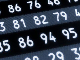 Une série de nombres aléatoires