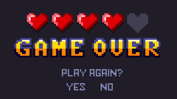 Jeu d'arcade - Game Over