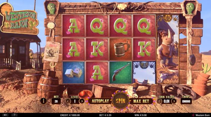 Capture d'écran Western Barn