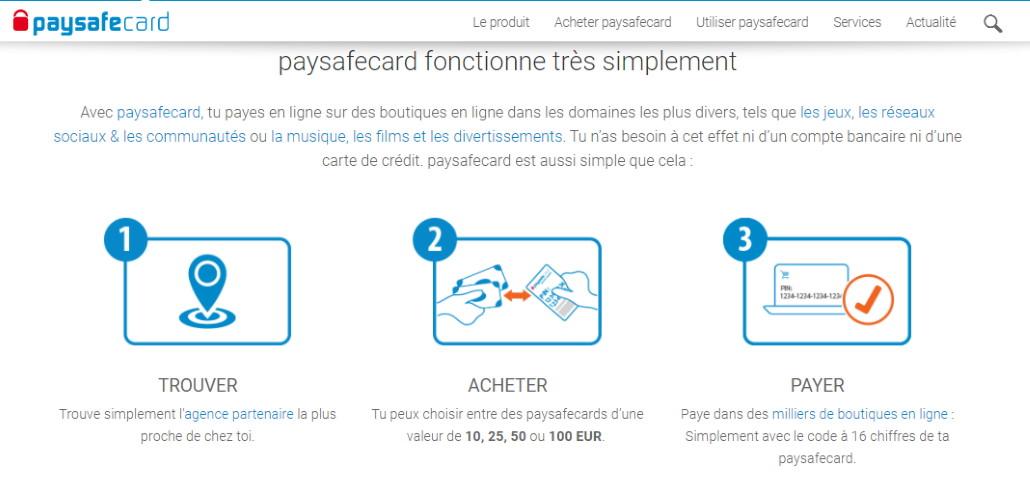 Site Web Paysafecard