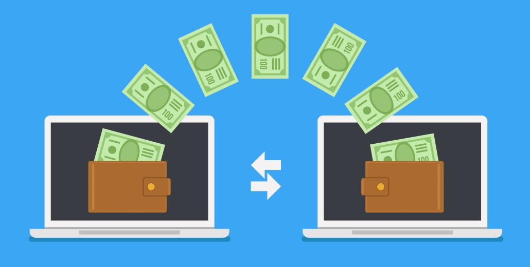 Transaction d'argent entre deux ordinqteurs