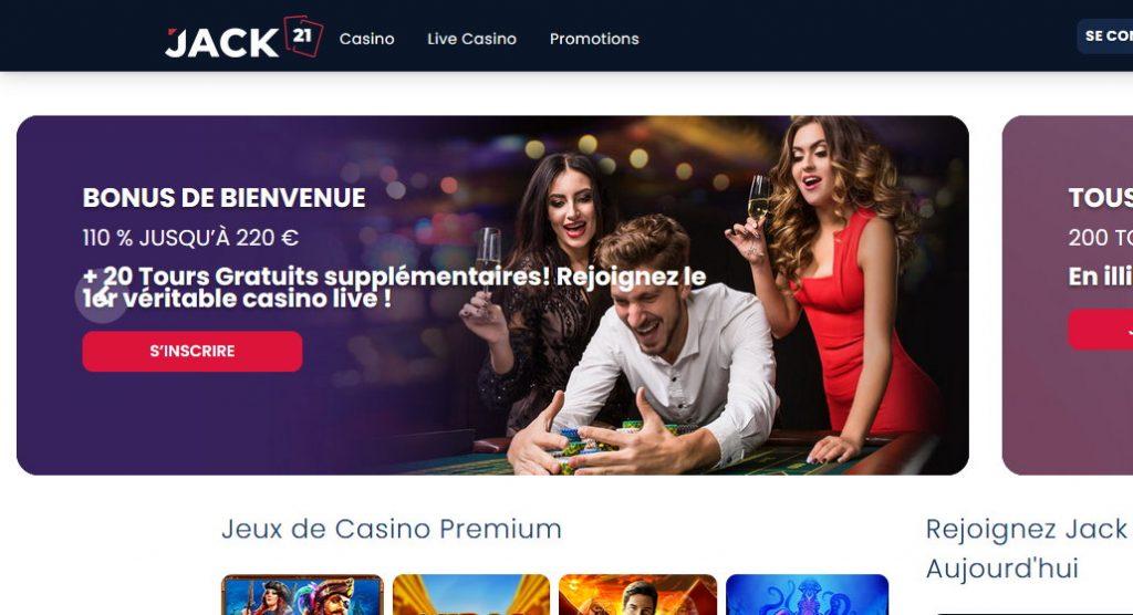 Site web du casino Jack 21
