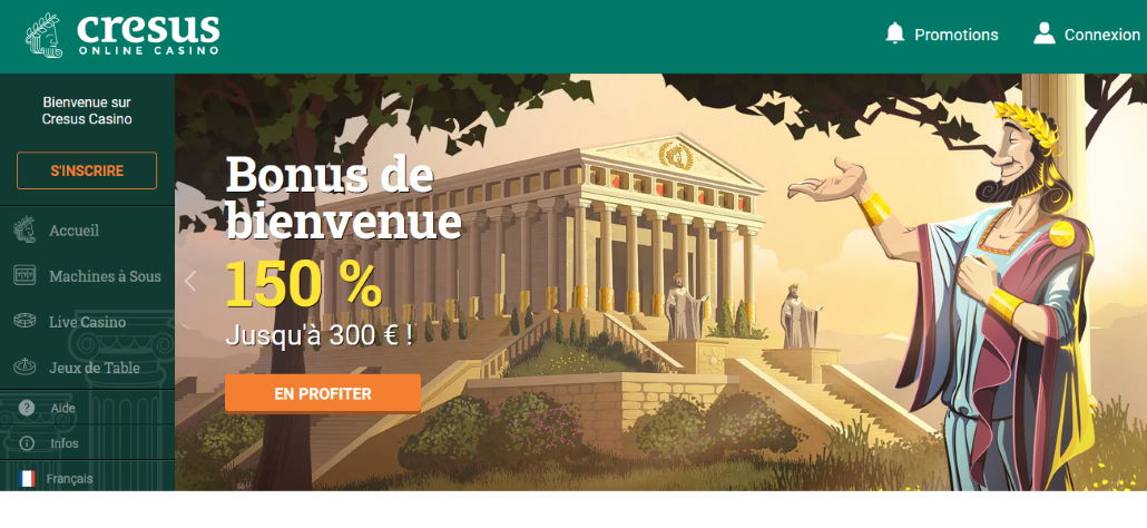 Site web Cresus Casino