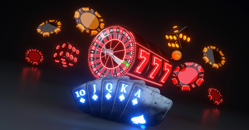Des jeux de casino en arrière-plan