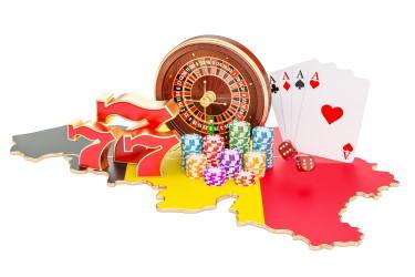 Des jeux de casino sur la carte de la Belgique