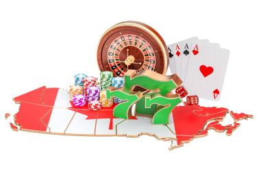 Des jeux de casino sur la carte du Canada